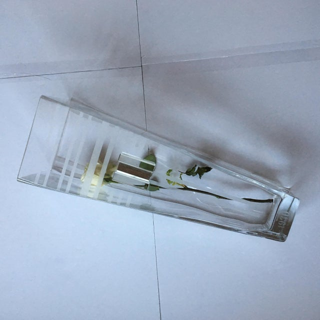 Glass 1930 Signed A.Riecke Glass Vase For Sale - Image 7 of 11