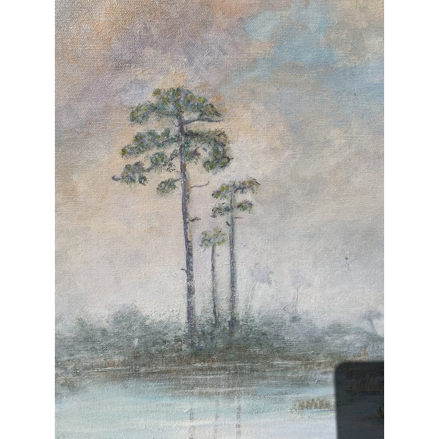 Florida Everglades Acrilic Painting in Pastels Tones. For Sale In Miami - Image 6 of 13