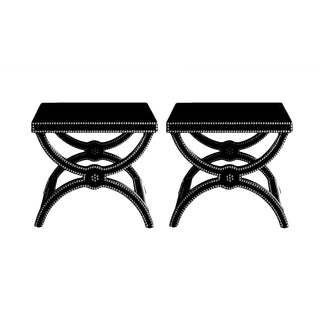 Alexandre Stool by Jacques Garcia for Baker Side Tables - a Pair For Sale