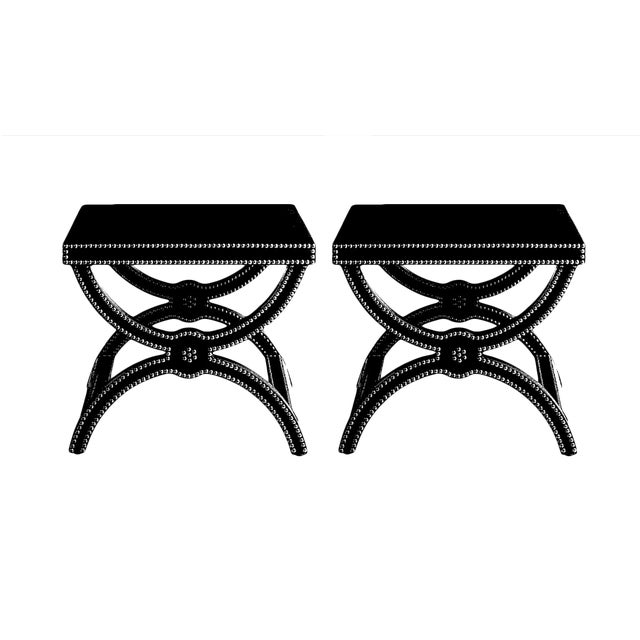 Alexandre Stools by Jacques Garcia for Baker - a Pair For Sale