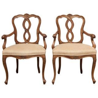19th-C. Italian Rococo Armchairs - A Pair