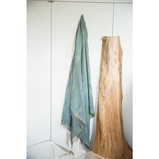 Old New House Vintage Denim Indigo African Textile Throw For Sale - Image 4 of 6