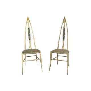 1960s Vintage Abstract Italian Chairs- A Pair For Sale
