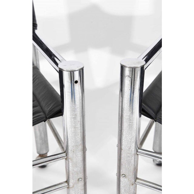 Chrome Leather Chairs - Pair - Image 6 of 6