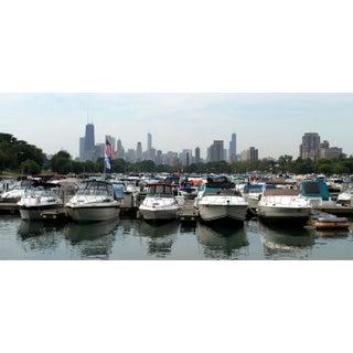 Diversey Harbor, Chicago Skyline Photograph by Josh Moulton For Sale