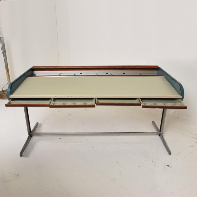 For your consideration, a Rare Action Desk designed by George Nelson & Robert Propst for Herman Miller. The USA Circa...