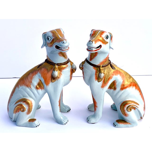 Burnt Orange Paul Hanson Italy, Chinoiserie Dogs - a Pair For Sale - Image 8 of 8