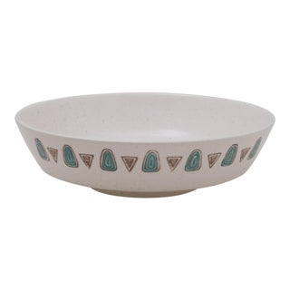 1950's Boho Chic Metlox Poppytrail Navajo Pattern Serving Bowl For Sale