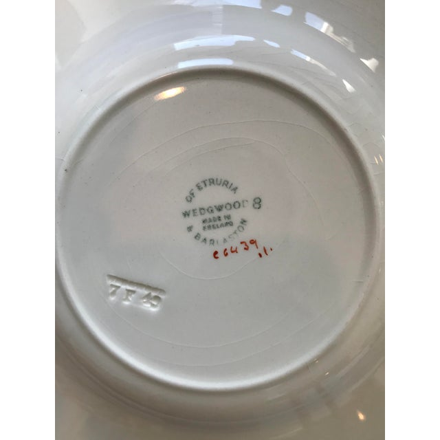 Vintage Wedgwood of Etruria and Barlaston Fine Bone China Pink & Silver Lustre Scalloped Edge Plates - Set of 7 For Sale - Image 11 of 13