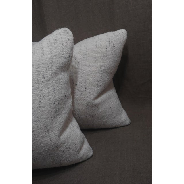 Rosemary Hallgarten Rosemary Hallgarten Wool Fabric Alpaca Boucle Throw Pillows - a Pair For Sale - Image 4 of 7