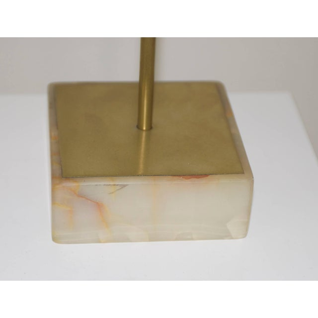 Jere Brass Bird Table Sculpture of Parrot on Perch Mounted on Marble Base For Sale - Image 10 of 11