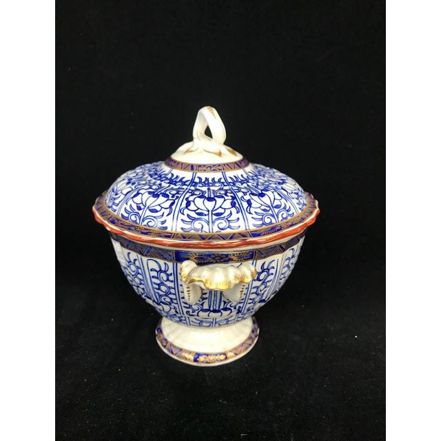 Late 19th Century 19th Century Victorian Blue & White China Lidded Serving Dishes - a Pair For Sale - Image 5 of 11