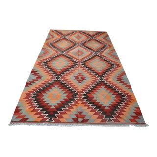 Anatolian Bohemian Kilim Rug - 5′8″ × 7′6″