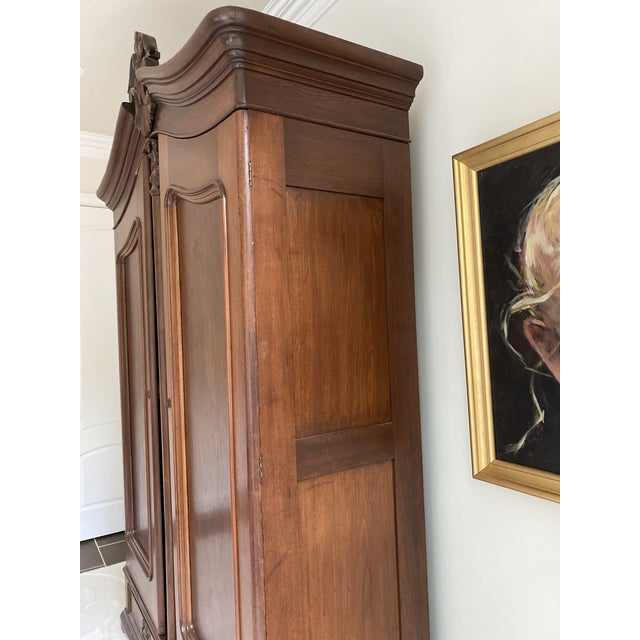 Antique French Wooden Wardrobe For Sale - Image 4 of 7