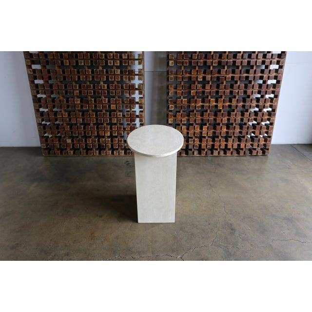 1970s Travertine Pedestal, Circa 1975 For Sale - Image 5 of 8