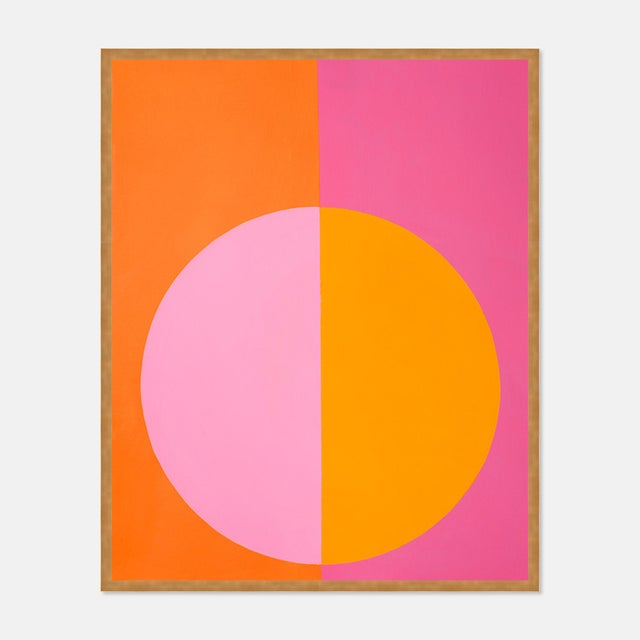 Contemporary Pink & Orange Forever Large Gold Framed print By Stephanie Henderson For Sale - Image 3 of 3