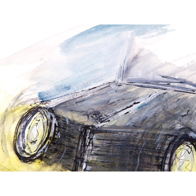 Clif Claycomb Foggy Headlight Watercolor Painting For Sale - Image 5 of 5