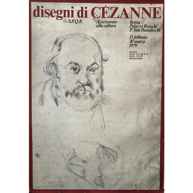 1979 Original Italian Cézanne Exhibition Poster, Palazzo Braschi, Rome For Sale