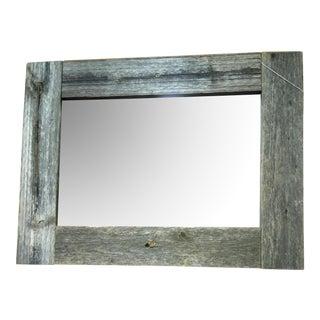 Rustic Barn Wood Framed Mirror For Sale