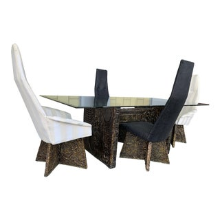 1960s Brutalist Adrian Pearsall Dining Set - 5 Pieces For Sale