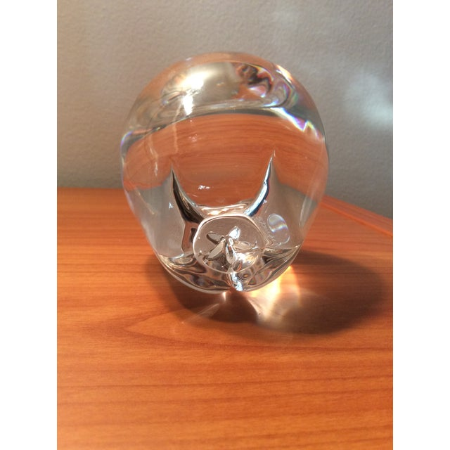 This is a gorgeous vintage solid crystal Steuben Apple. It is flawless in clarity, purity and absence of color. It is...