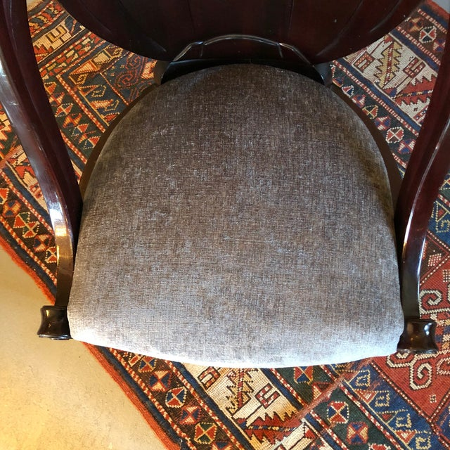1920s Vintage Sue Et Mare David Weill Art Deco Side Chair For Sale - Image 11 of 13