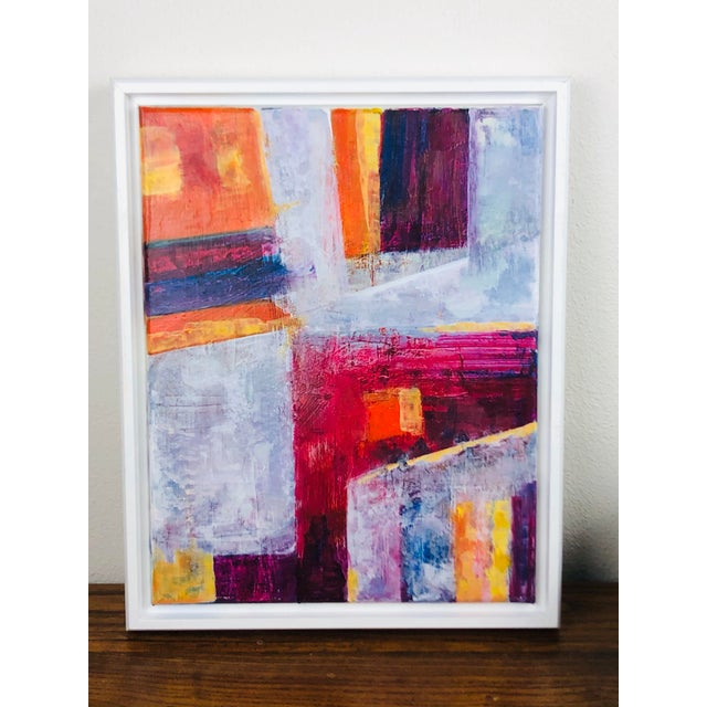 Contemporary Abstract Acrylic Painting, Framed For Sale In Seattle - Image 6 of 7
