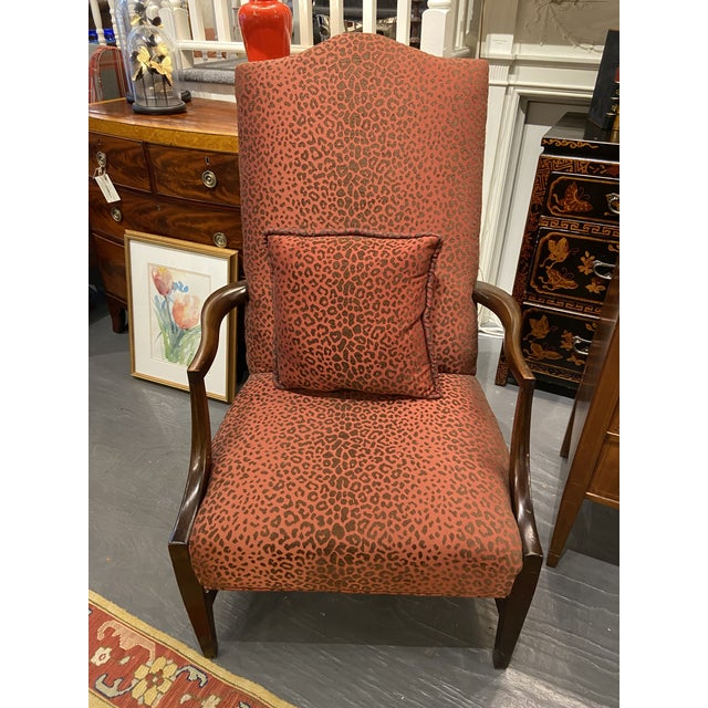19th Century English Mahogany Lolling Chair For Sale - Image 9 of 9
