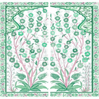 Kips Bay Showhouse Green Pink Artwork For Sale