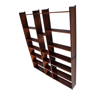 Danish Modern Rosewood Bookcase Wall Unit Designed by Ib Juul Christensen For Sale