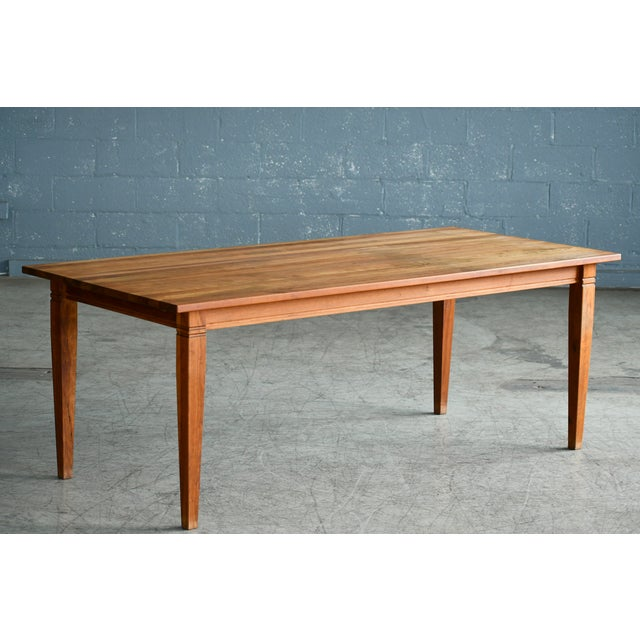 Large Danish Modern Dining Table By Haslev Seats 10 12 People Chairish