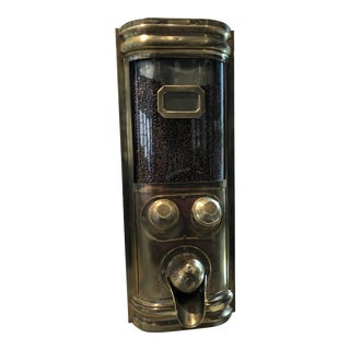 Antique French Commercial Coffee Bean Dispenser in Brass For Sale