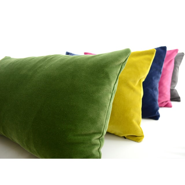 Quality designer, Rich and soft FirmaMenta Chartreuse velvet lumbar pillow. Brighten your room with colors and a luxe...