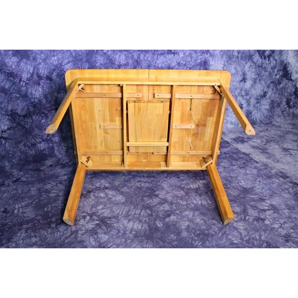 Mid-Century Modern Wooden Dining Kitchen Table For Sale - Image 9 of 10