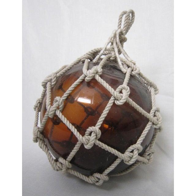 Amber Glass Fishing Float - Image 2 of 4