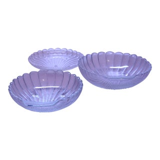 Vintage Seashell Dishes - Set of 3 For Sale