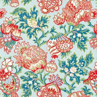 Scalamandre Canterburdy Linen Print Fabric Sample For Sale