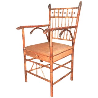 19th Century Bamboo Chair For Sale