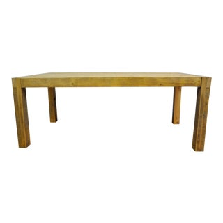 Contemporary Rustic Reclaimed Salvaged Wood Dining Table For Sale