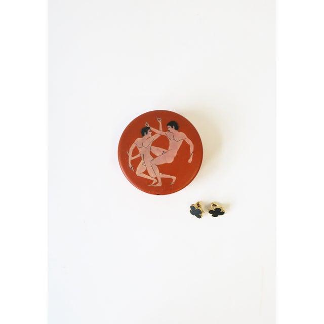 Jewelry Box With Greco-Roman Nude Male Figurative Design For Sale - Image 4 of 13
