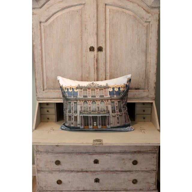 Canvas Versailles Rear Courtyard Photo Pillow For Sale - Image 7 of 12