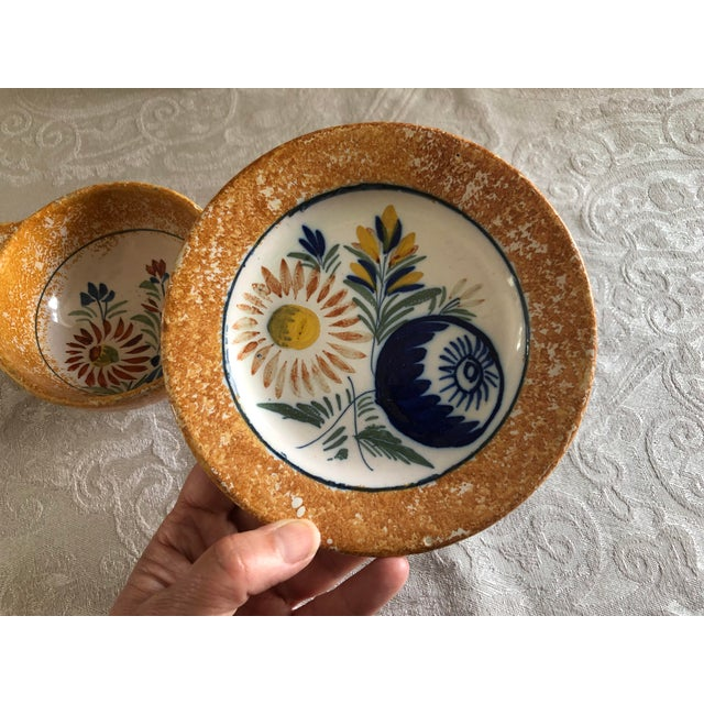 Henriot Quimper French Pottery Bowl & Plate Set For Sale - Image 10 of 13