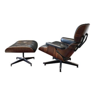 Early Rosewood Eames Chair and Ottoman For Sale