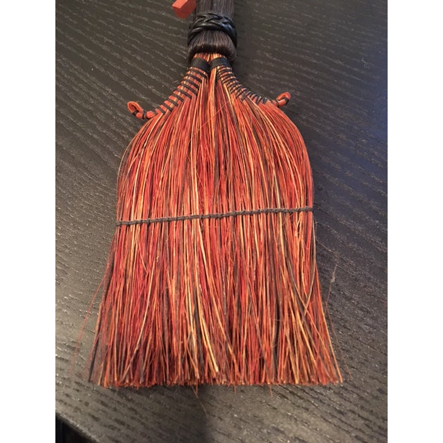 Ethnic Hand Stitched Leather Bound Brush For Sale - Image 4 of 4