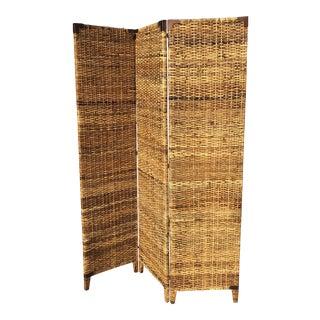 Vintage Wicker Screen/Room Divider For Sale