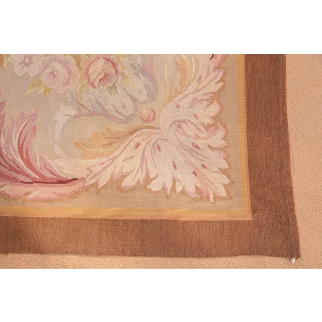 Pastel French Aubusson Rug For Sale - Image 7 of 9