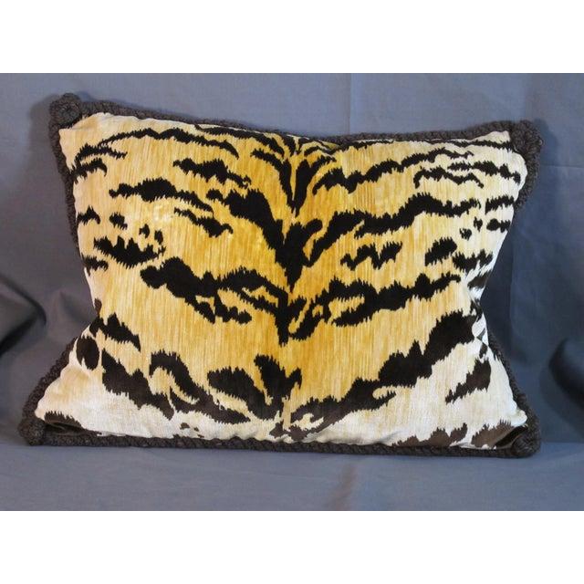 Bevilaqua Tiger Stripe Silk Velvet Pillow For Sale - Image 4 of 4