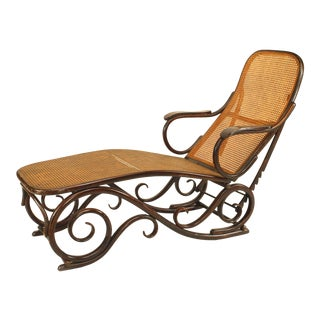 Austrian Bentwood Beech Chaise For Sale