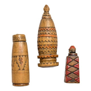 Berber Women Handcarved Vessels - Set of 4 For Sale