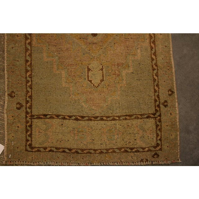 Small Vintage Area Rug - 1′9″ × 3′11″ For Sale - Image 4 of 5